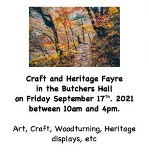 Craft & Heritage Fayre 17 Sep