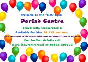 Parish Centre Re-open for Business